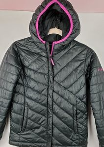 Columbia Puffy Jacket Coat Hood Girls M 10-12